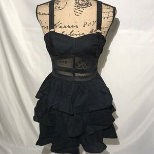 Hot Topic Mesh Ruffle Suspended Open Racer Back